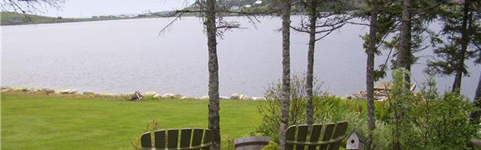View of Lake from Garden