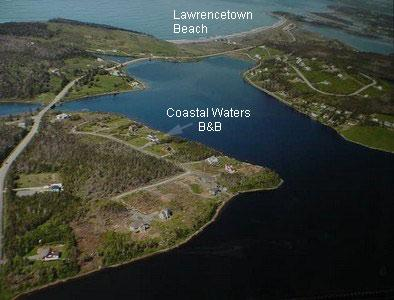 Aerial View of Our Property Showing Location of Lawrencetown Beach
