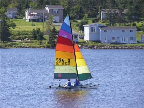 Sailing on Porter's Lake