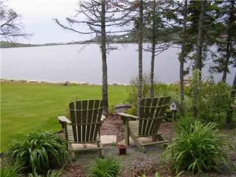 In the garden overlooking the lake - Peace and Tranquility